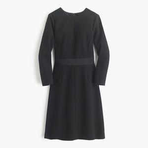 Classic J. Crew Black Wool Crepe Dress/8